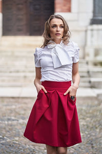 Melania Natural Waist Business Skirt