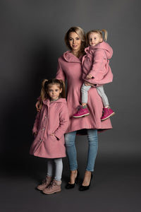 Inessa Woolen Matching Coats for Mother and Daughter