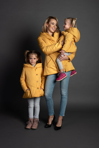 Sunshine Matching winter jackets for woman and girl