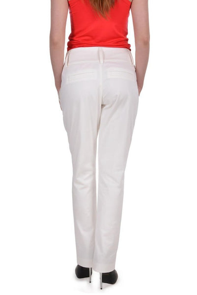 White elegnat woman straight leg pants / trousers, Summer / Spring, plus / large sizes, office / work outfit, long sexy modern design