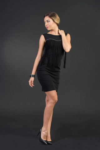 Laura Little Black Dress with Macrames