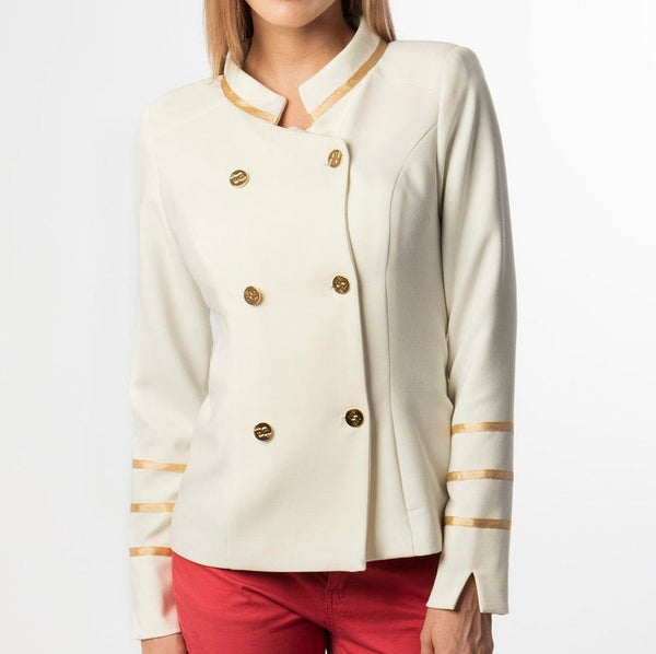 Alexandra Set Admiral Jacket/blazer plus Elegant Cape with Double Row Button Fastening