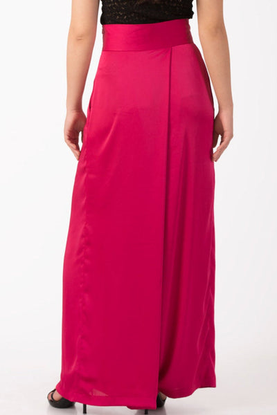 Alessa Fuchsia Summer Maxi pants, Palazzo pants, Plus sizes, High waist trousers, Wide leg pants, Flare pants, Comfortable pants, Pink pants