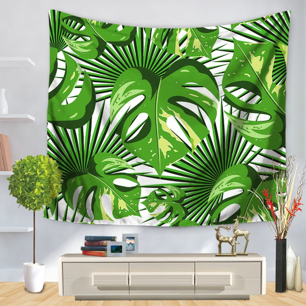 Tenture murale vegetale monstera