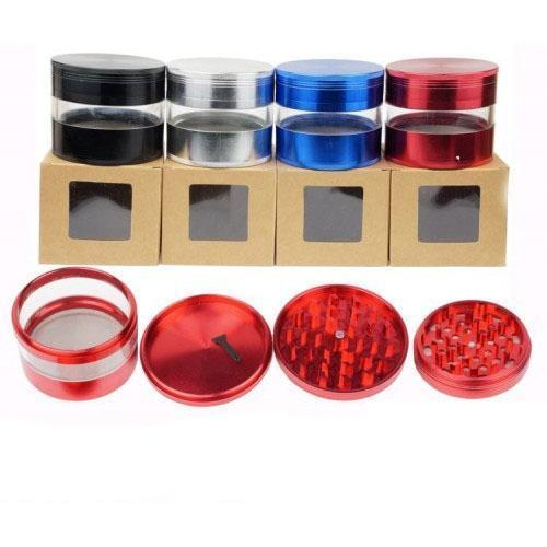 Aluminum Tobacco Grinder - 4 Parts