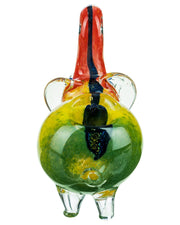 Find Dichro Striped Rasta Elephant Pipe by BoroDirect at www.haveapuff.com