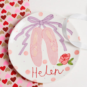 Personalised Ballet Shoes Name Plate