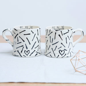 A Pair of Personalised Name Mugs