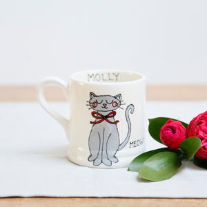 Cute Personalised Cat Mug