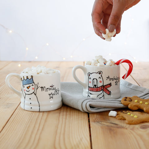 Personalised Christmas mini mugs Size(S)