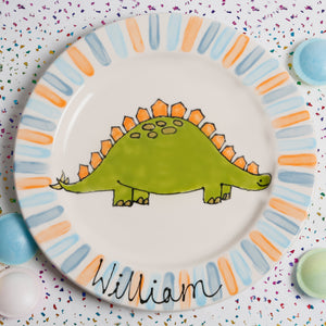 Personalised Friendly Dinosaur Name Plate