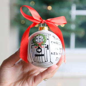Personalised First Christmas in your New home bauble