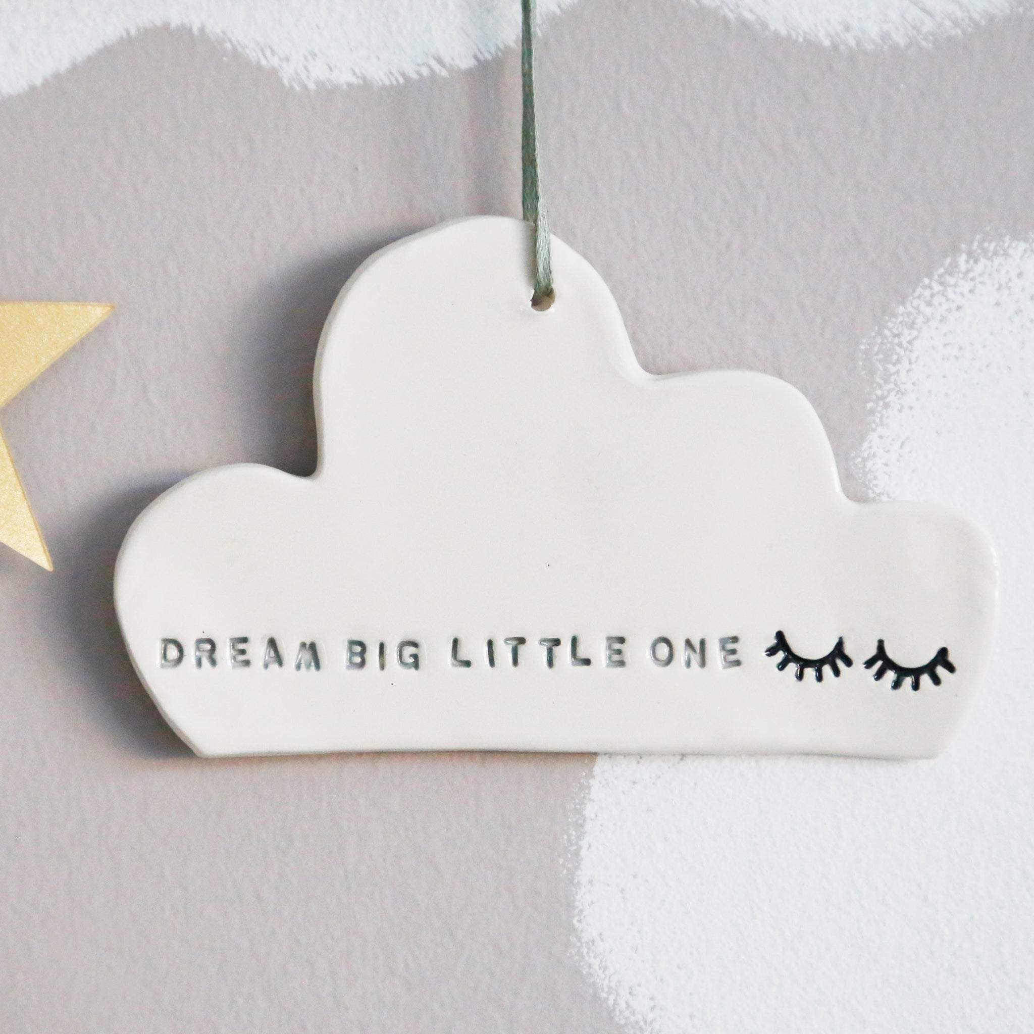 Dream Big Cloud hanging decoration