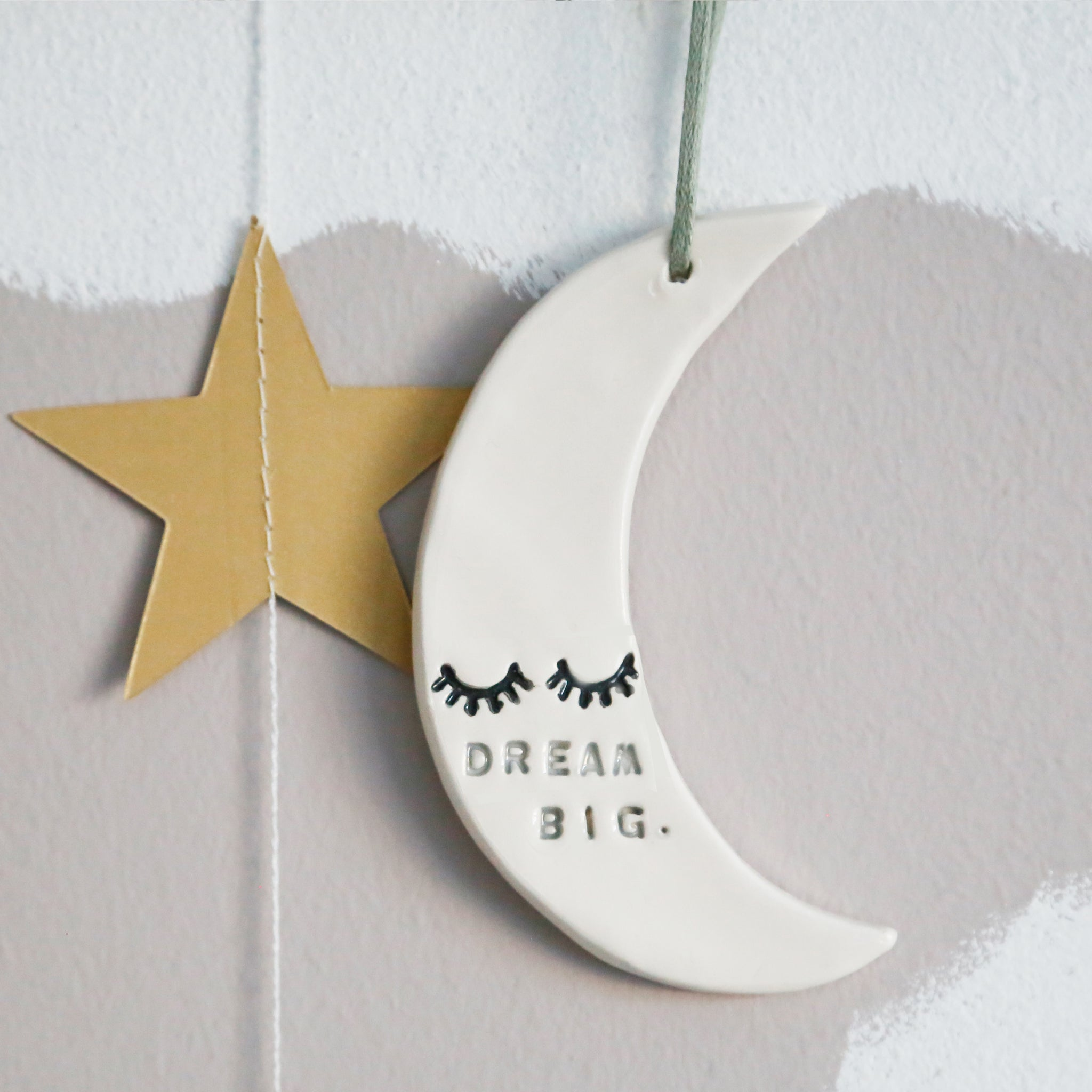 Dream Big Moon hanging decoration