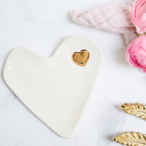 Simple Heart Jewellery Dish