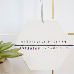 Imperfectly Perfect Hexagon hanging decoration