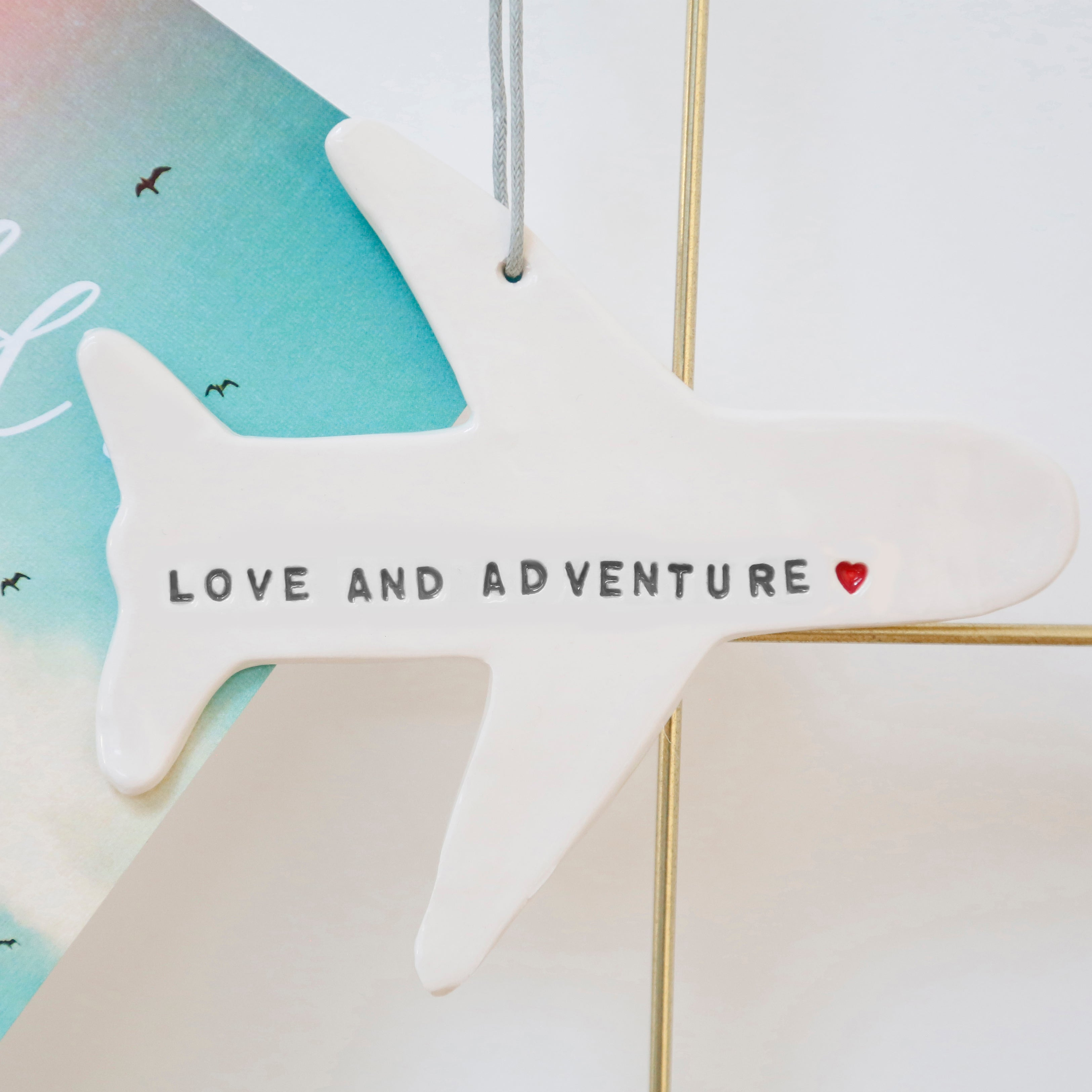 Love and Adventure Plane hanging decoration