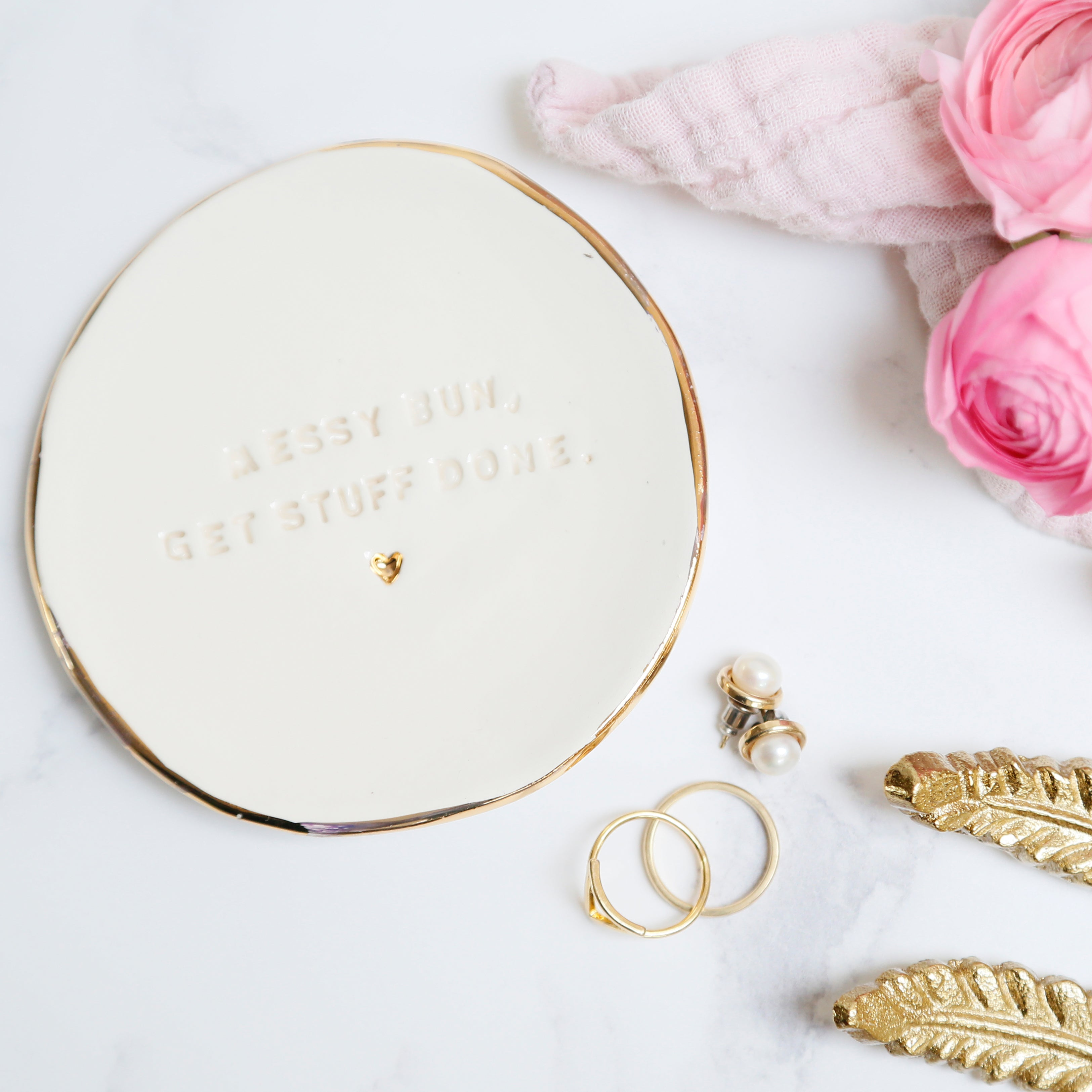 Messy Bun, Get Things Done Jewellery Dish