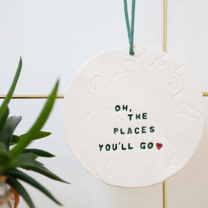 Oh the Places You'll Go Globe hanging decoration