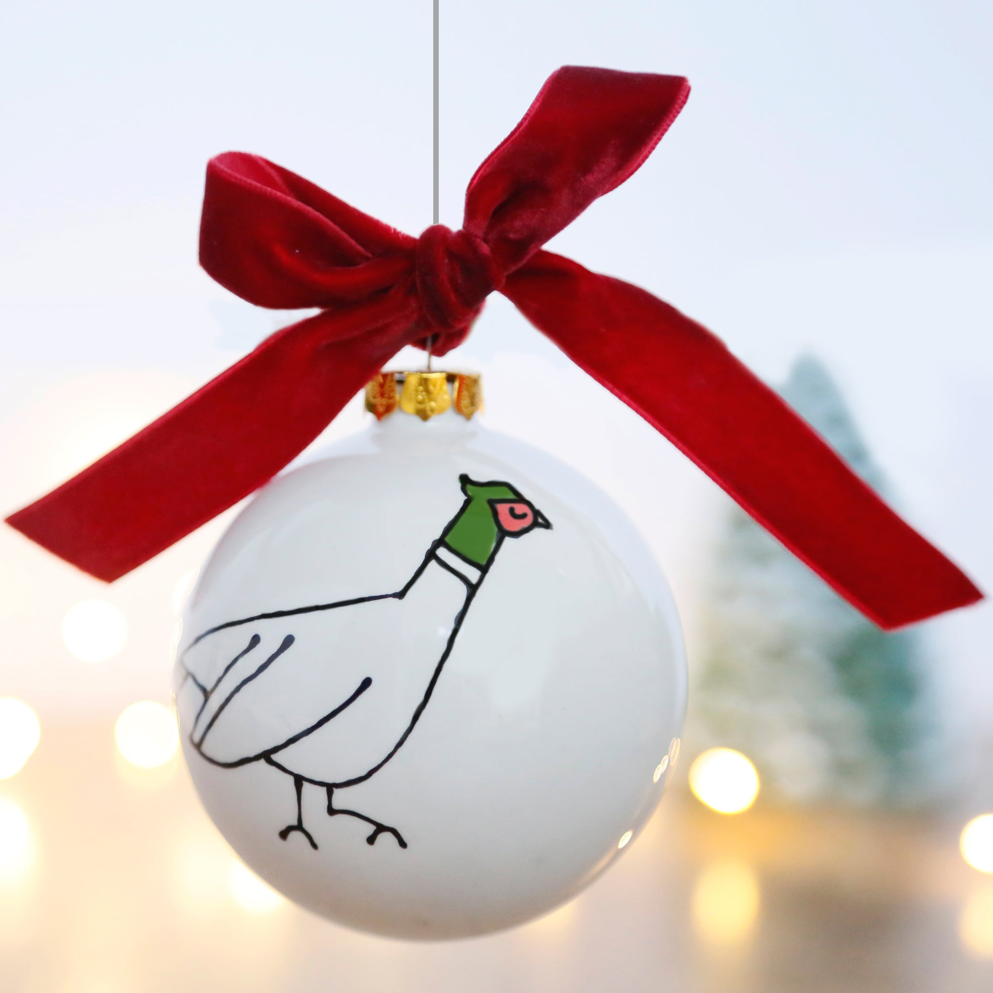 Christmas Bauble with a Classic County Pheasant Design