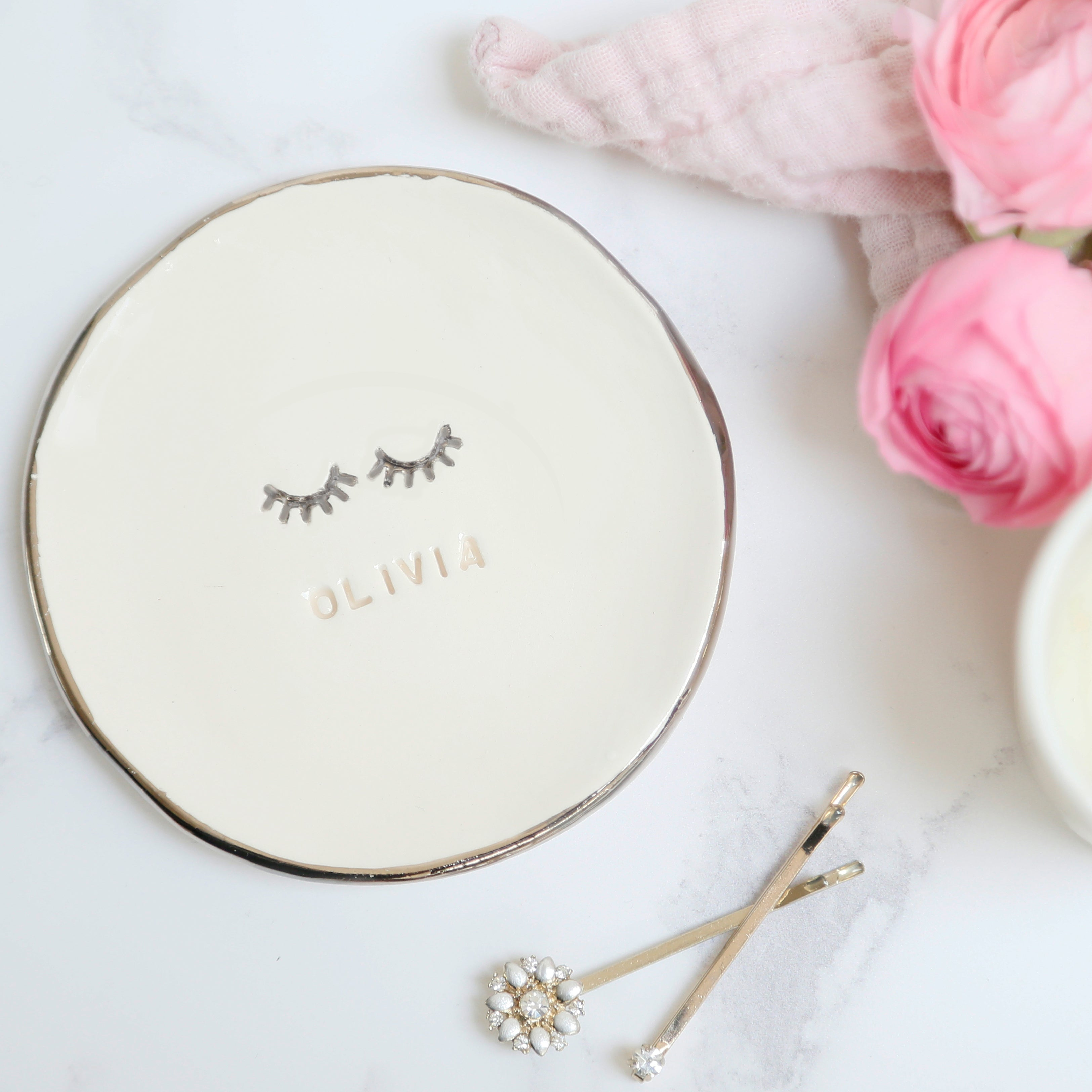 Eyelashes Jewellery Dish
