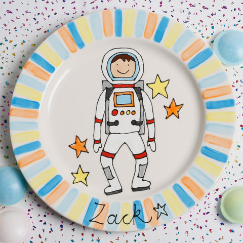 Personalised Spaceman Name Plate