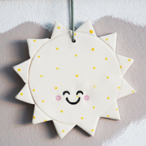 Cute spotty Sun Hanging Decoration