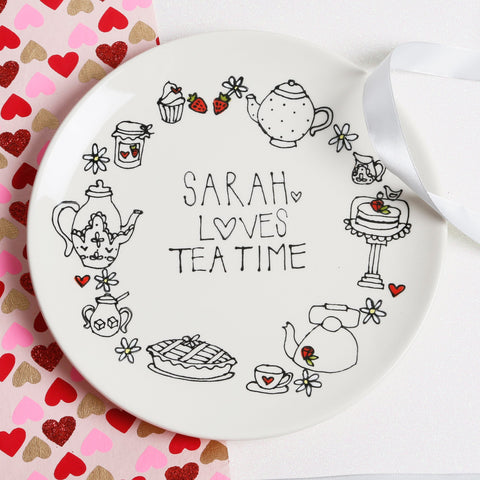 Modern and stylish Personalised Afternoon Tea plate