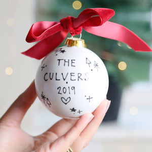 Personalised Family Names Bauble