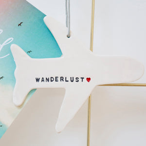 Wanderlust Plane hanging decoration