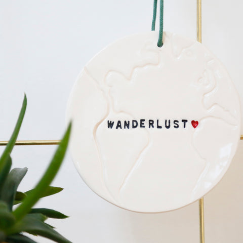 Wanderlust Globe hanging decoration