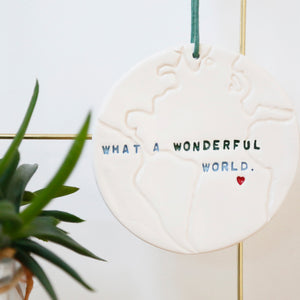 What a Wonderful World Globe hanging decoration