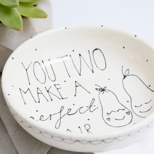 Delightful Personalised Perfect Pair Bowl
