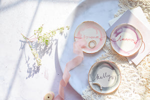 Personalised bridesmaid favour trinket dishes