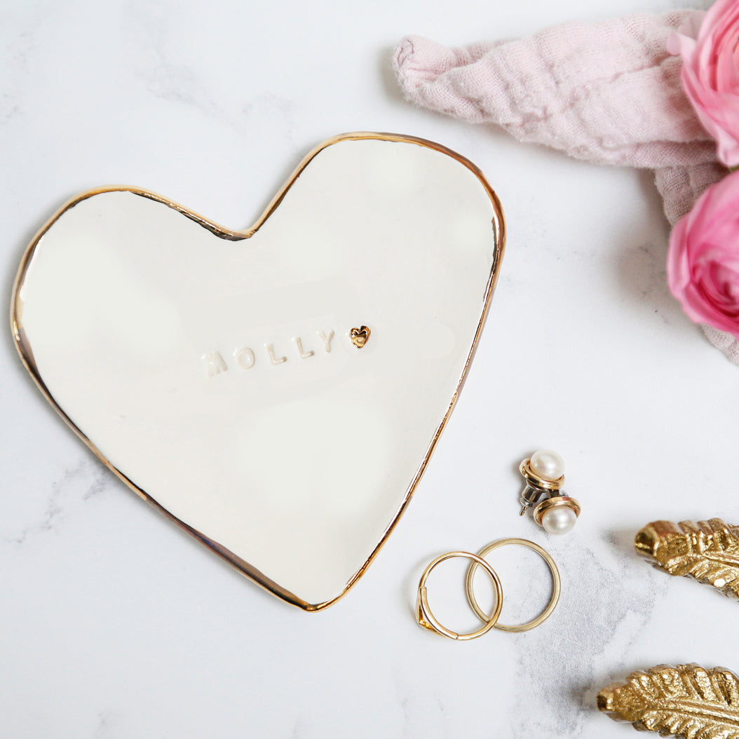 Simple and Chic Personalised Trinket Dish