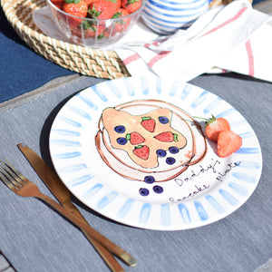 Personalised Breakfast Illustration Plate