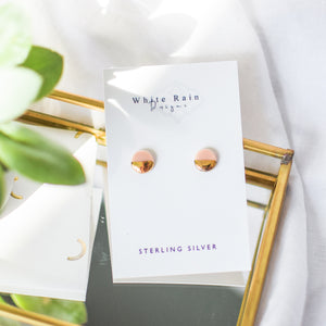 Circle Ceramic Stud Earrings with Sterling Silver backs (Choice of colours)