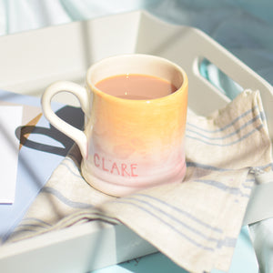 Personalised shaded Initial Mug