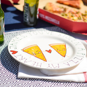Humorous 'Pizza My Heart' Personalised Plate
