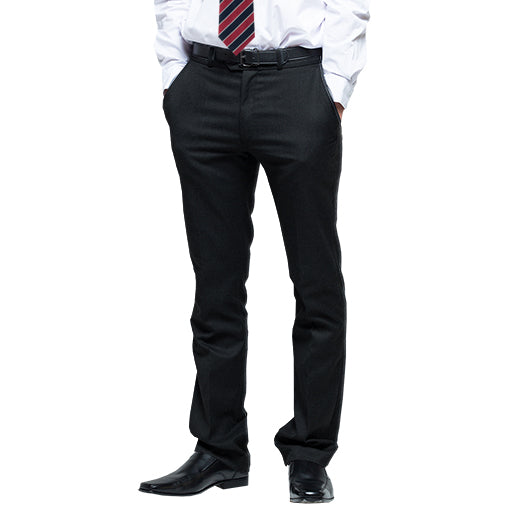 Boys senior, slim fit trousers black