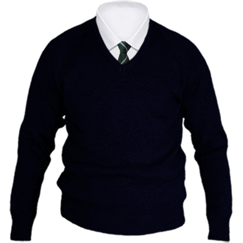 Boys V-Neck Knitwear Navy