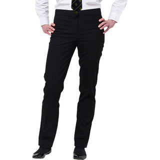 Girls black slim fit trousers