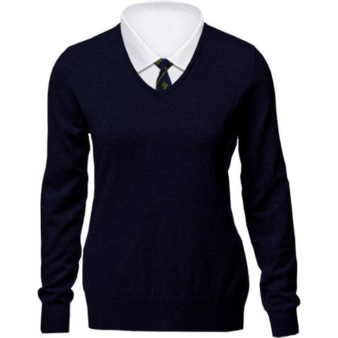 Ruabon Girls V-Neck Knitwear