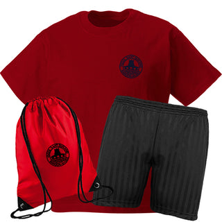 St. Dunawd PE Set with Red T-Shirt