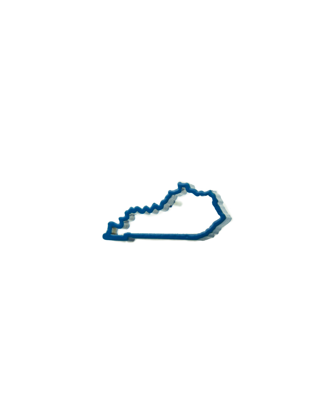 Show your Kentucky state pride with this blue, powder-coated Kentucky outline pin.  Size: 1
