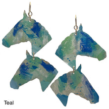 Kayla Weber Art + Meg C Collaboration - Painted Horse Earrings