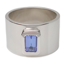 Wide Band Tanzanite Ring