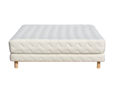 The Forte Organic Mattress with Low Profile Foundation