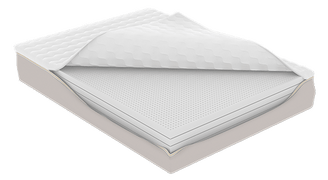 Hevean 10 Organic Mattress with Open Cover