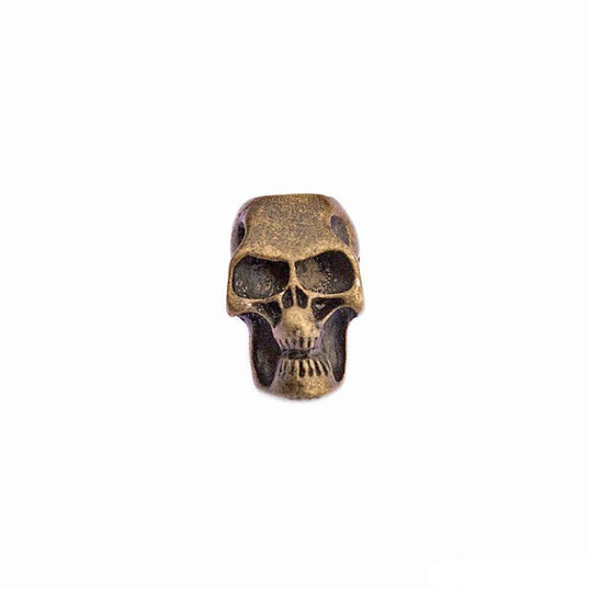 Beard Rings - Beard Bead, Antique Gold Skull - Grimfrost.com